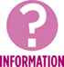 pink question mark information